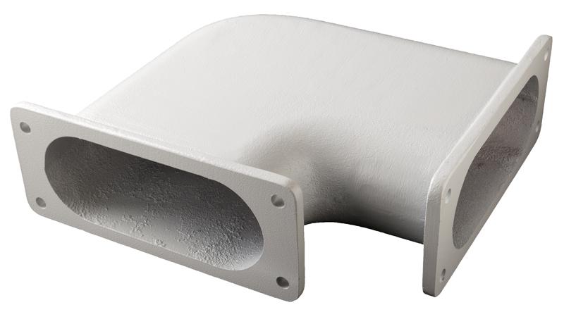 Angled Transition Flange – 90º – side-mounted